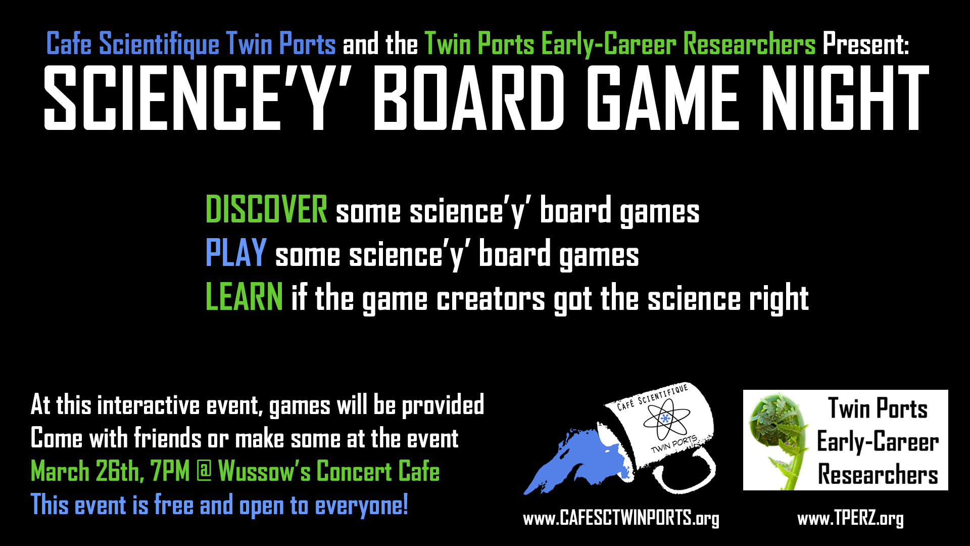 Science'y' Board Game Night – Twin Ports Early-Career Researchers